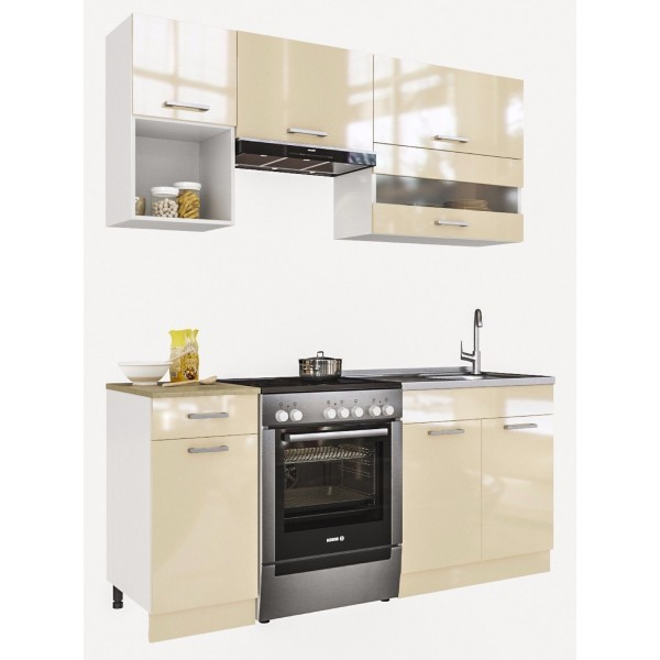 Küchenzeilen ALINA 180 CREAMELACKIERT , küche, KCHENZEILE, KCHENBLOCK, WINKELKCHE