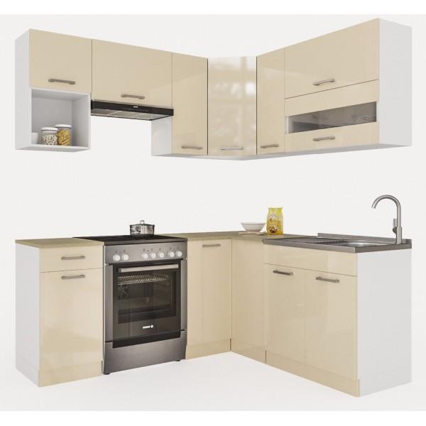 Küchenzeilen ALINA 190x170 CREAMELACK , küche, KCHENZEILE, KCHENBLOCK, WINKELKCHE