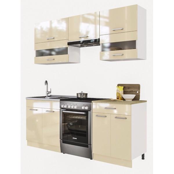 Küchenzeilen ALINA 200 CREAMELACKIERT , küche, KCHENZEILE, KCHENBLOCK, WINKELKCHE