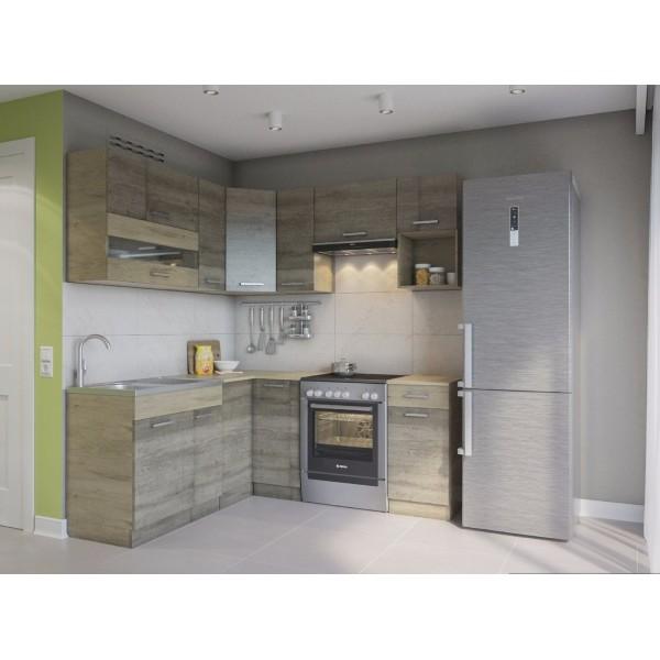 Küchenzeilen ALINA 190x170 TRÜFFEL-SONOMA , küche, KCHENZEILE, KCHENBLOCK, WINKELKCHE