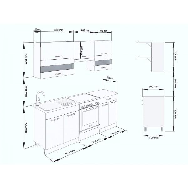 Küchenzeilen ALINA 200 TRÜFFEL-SONOMA , küche, KCHENZEILE, KCHENBLOCK, WINKELKCHE