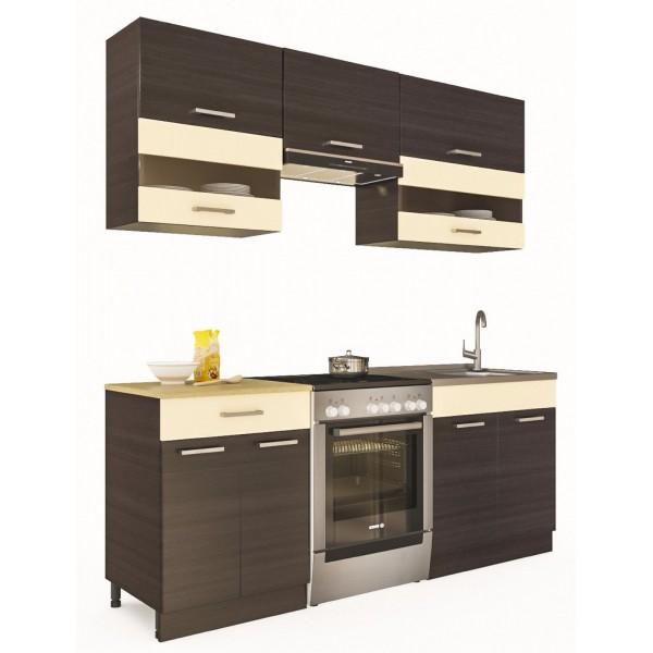 Küchenzeilen ALINA 200 WENGE , küche, KCHENZEILE, KCHENBLOCK, WINKELKCHE