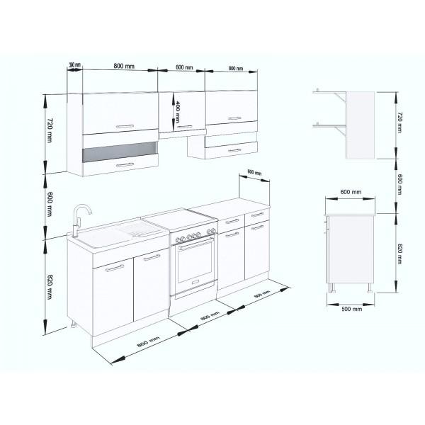 Küchenzeilen ALINA 220 WENGE , küche, KCHENZEILE, KCHENBLOCK, WINKELKCHE