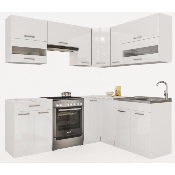 Küchenzeilen ALINA 210x170 WEIßLACK , küche, KCHENZEILE, KCHENBLOCK, WINKELKCHE