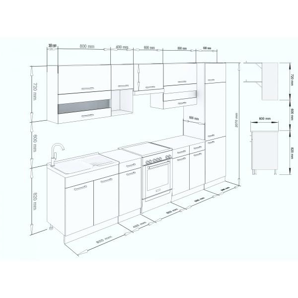 Küchenzeilen ALINA 320+CREAM-LACK , küche, KCHENZEILE, KCHENBLOCK, WINKELKCHE
