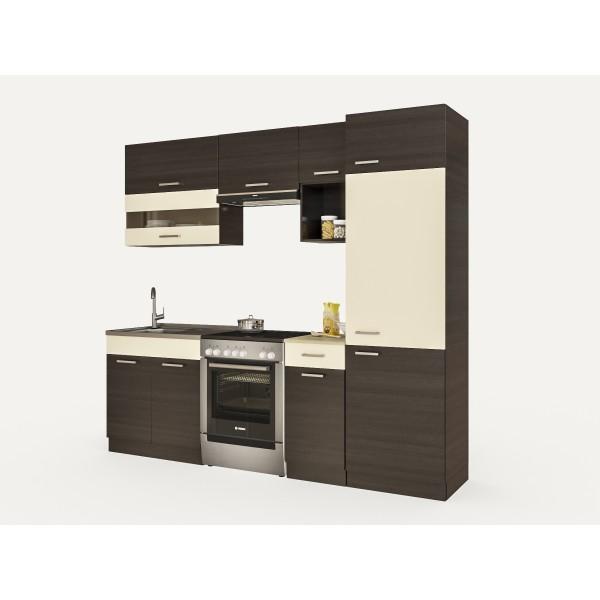 Küchenzeilen ALINA 240+ WENGE , küche, KCHENZEILE, KCHENBLOCK, WINKELKCHE