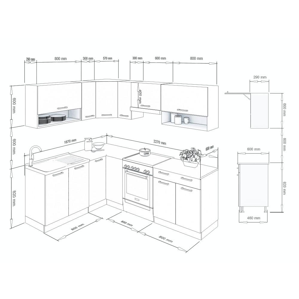 k che lux 230 cm schwarz preis. Black Bedroom Furniture Sets. Home Design Ideas
