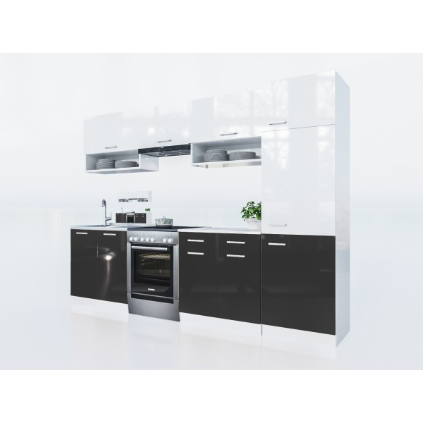 Küchenzeilen LUX 280+ SCHWARZ , küche, KCHENZEILE, KCHENBLOCK, WINKELKCHE