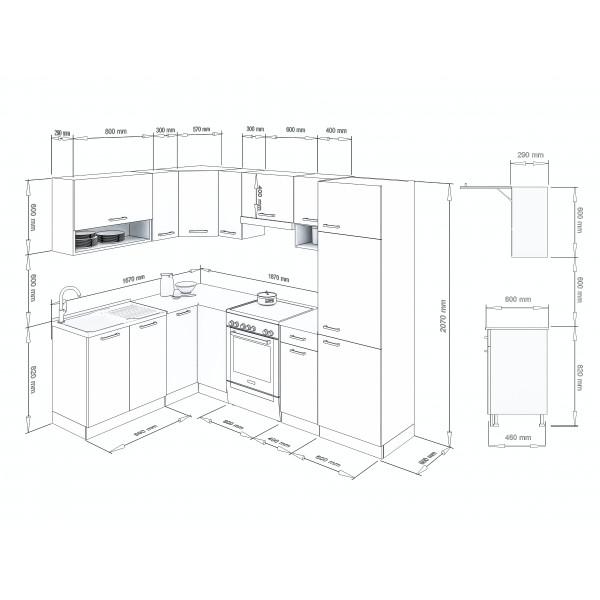 Küchenzeilen LUX 250+ BLAU , küche, KCHENZEILE, KCHENBLOCK, WINKELKCHE