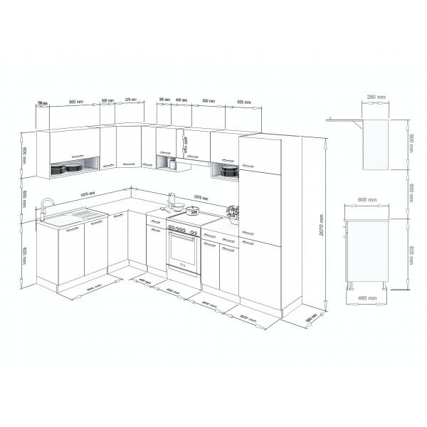 Küchenzeilen LUX 310+ BLAU , küche, KCHENZEILE, KCHENBLOCK, WINKELKCHE