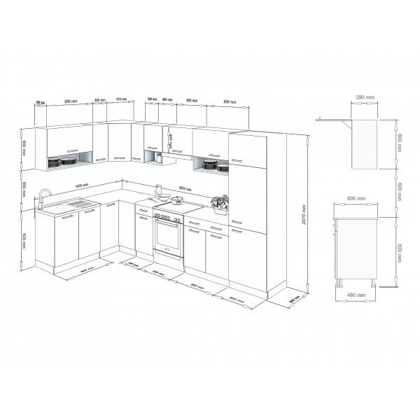 Küchenzeilen LUX 330+ BLAU , küche, KCHENZEILE, KCHENBLOCK, WINKELKCHE