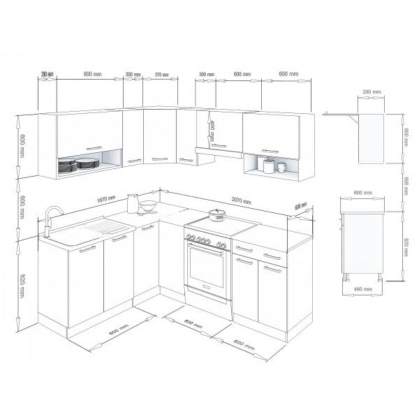 Küchenzeilen LUX 210 ROT , küche, KCHENZEILE, KCHENBLOCK, WINKELKCHE
