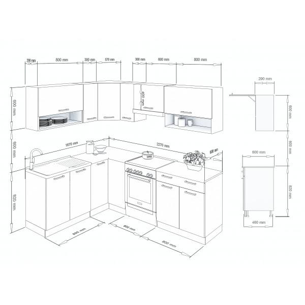 Küchenzeilen LUX 230 ROT , küche, KCHENZEILE, KCHENBLOCK, WINKELKCHE