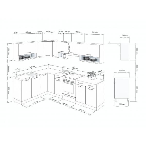 Küchenzeilen LUX 270 ROT , küche, KCHENZEILE, KCHENBLOCK, WINKELKCHE