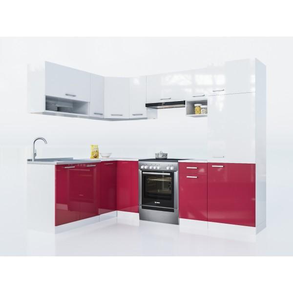 Küchenzeilen LUX 250+ ROT , küche, KCHENZEILE, KCHENBLOCK, WINKELKCHE