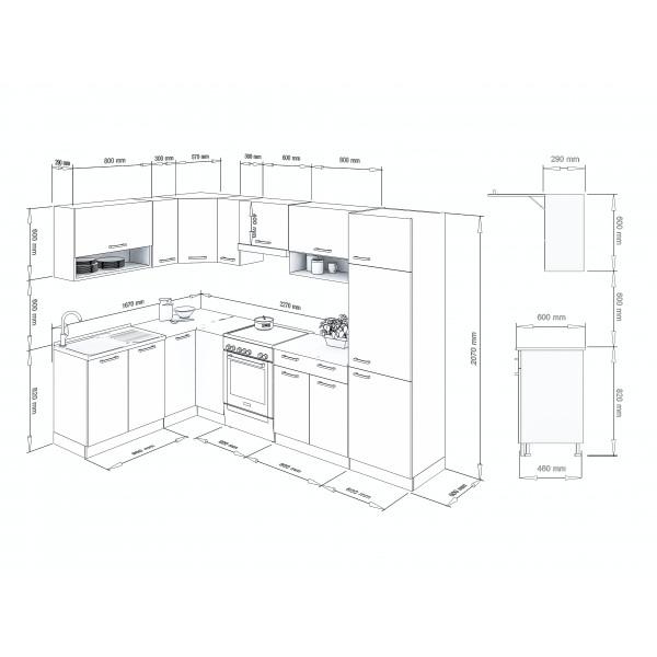 Küchenzeilen LUX 290+ ROT , küche, KCHENZEILE, KCHENBLOCK, WINKELKCHE