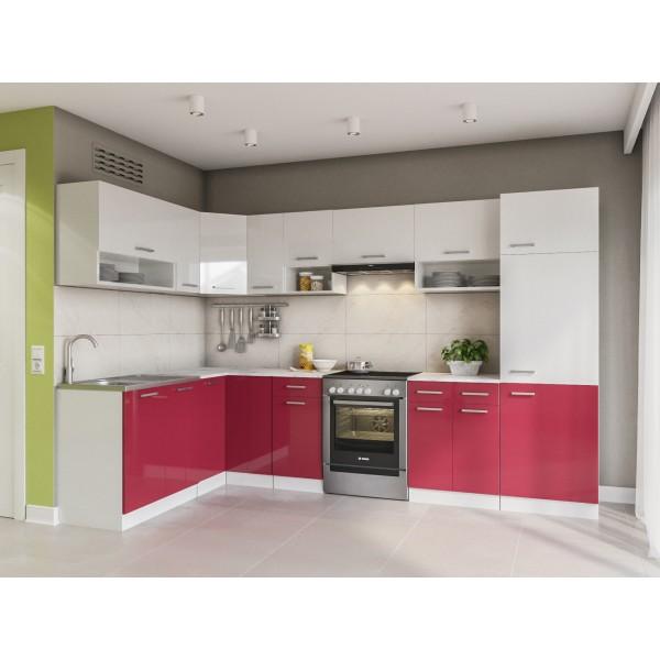 Küchenzeilen LUX 310+ ROT , küche, KCHENZEILE, KCHENBLOCK, WINKELKCHE
