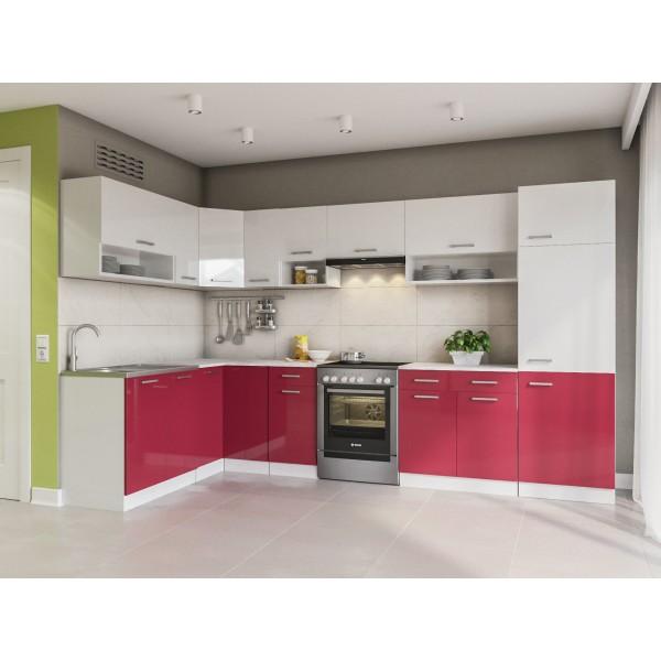 Küchenzeilen LUX 330+ ROT , küche, KCHENZEILE, KCHENBLOCK, WINKELKCHE