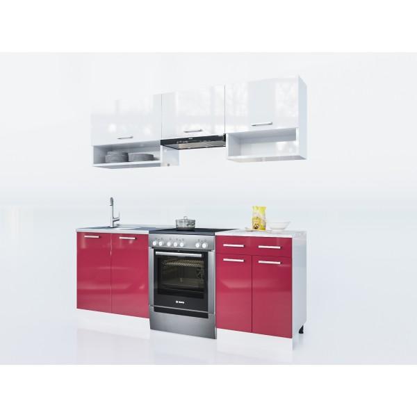 Küchenzeilen LUX 200 ROT , küche, KCHENZEILE, KCHENBLOCK, WINKELKCHE