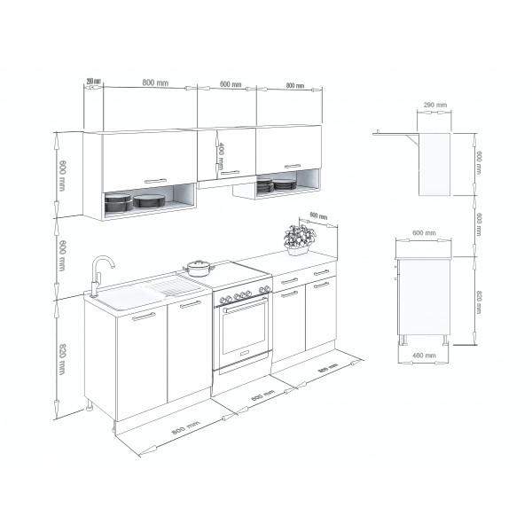 Küchenzeilen LUX 220 ROT , küche, KCHENZEILE, KCHENBLOCK, WINKELKCHE