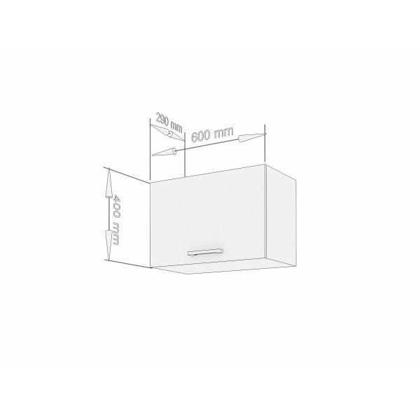 """Küchenzeilen Kurzhängeschrank Weißlack 60 cm """"Lux"""" (3005) , küche, KCHENZEILE, KCHENBLOCK, WINKELKCHE"""