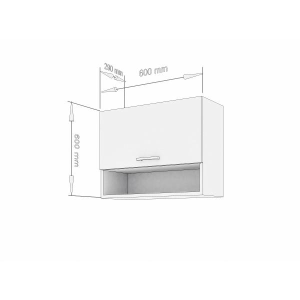 """Küchenzeilen Hängeschrank  Weißlack O60 cm """"Lux"""" (3001) , küche, KCHENZEILE, KCHENBLOCK, WINKELKCHE"""