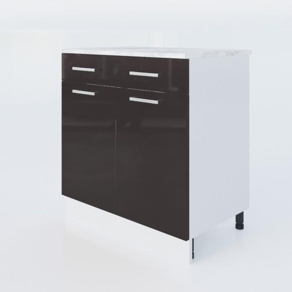 """Küchenzeilen Unterschrank Schwarzlack 80 Cm """"LUX"""" (3008) , küche, KCHENZEILE, KCHENBLOCK, WINKELKCHE"""
