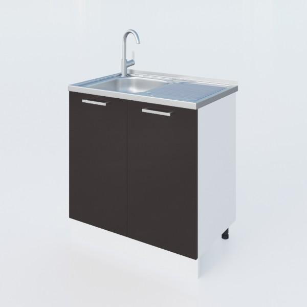 """Küchenzeilen Spülunterschrank Schwarzlack  80 Cm """"LUX"""" (3009) , küche, KCHENZEILE, KCHENBLOCK, WINKELKCHE"""