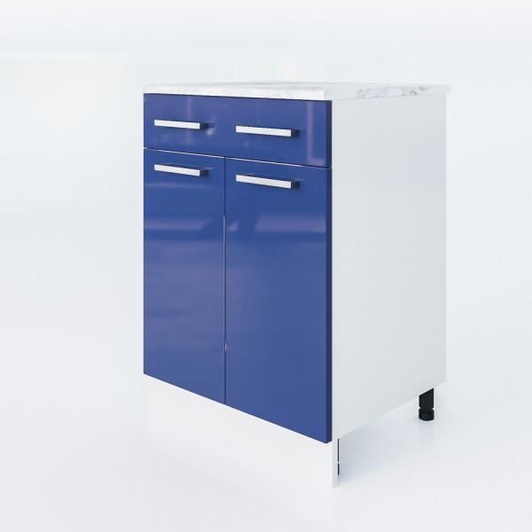 """Küchenzeilen Unterschrank Blau 60 Cm """"LUX"""" (3007) , küche, KCHENZEILE, KCHENBLOCK, WINKELKCHE"""