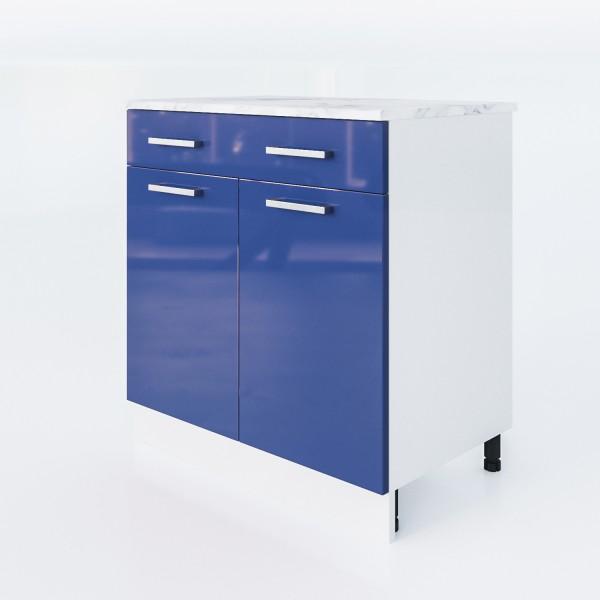 """Unterschrank Blau 80 Cm """"LUX"""" (3008)"""