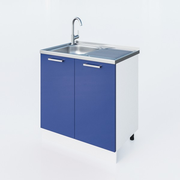 """Küchenzeilen Spülunterschrank Blau  80 Cm """"LUX"""" (3009) , küche, KCHENZEILE, KCHENBLOCK, WINKELKCHE"""