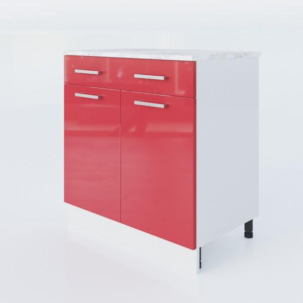 """Küchenzeilen Unterschrank Rot 80 Cm """"LUX"""" (3008) , küche, KCHENZEILE, KCHENBLOCK, WINKELKCHE"""