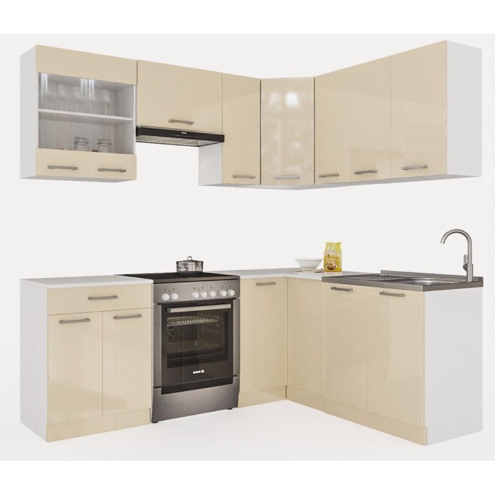 k che martha 210 cm creamelack preis kaufen k chenzeile in frankfurt. Black Bedroom Furniture Sets. Home Design Ideas