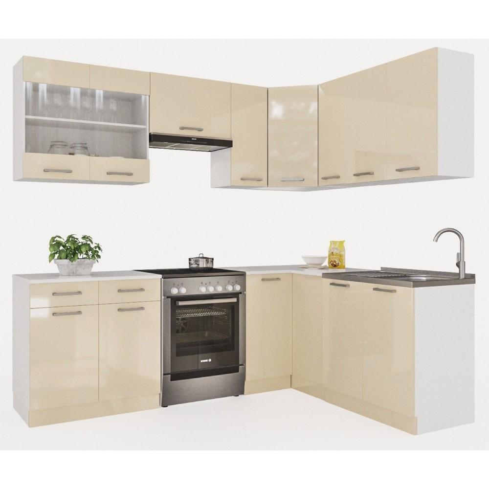 Küchenzeile 230 Cm : k che martha 230 cm creamelack preis kaufen k chenzeile in frankfurt ~ Avissmed.com Haus und Dekorationen