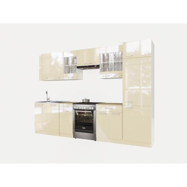 Küchenzeilen MARTHA 300+ CREAMELACK , küche, KCHENZEILE, KCHENBLOCK, WINKELKCHE